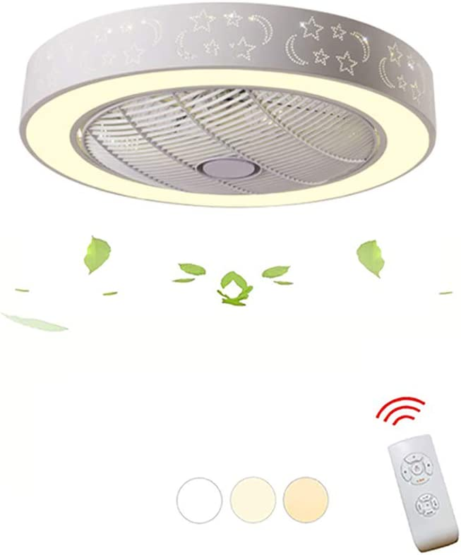 HHCC Ventilador de Techo con Llight, 3-Color Dimming & 3 ...