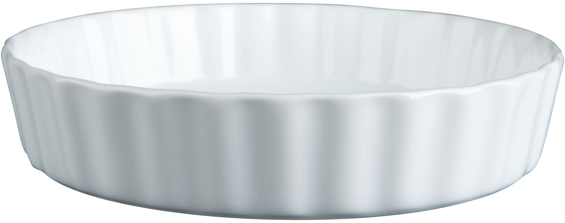 BIA Cordon Bleu - Set of 4-8 Ounce Individual White Porcelain Quiche or Crème Brulee Dishes - 7''