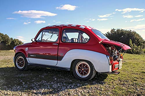 Photography Poster - Seat, Six Hundred Abarth, Red, for sale  Delivered anywhere in USA