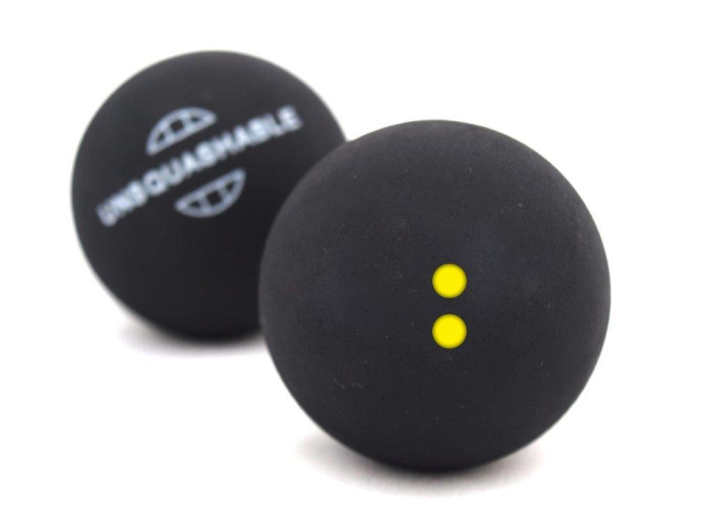 Unsquashable Balles de squash paquet de 2 Jaune 382213