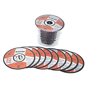 "KSEIBI 646004 Metal Stainless Steel Cutting Disc 4-1/2""x.040""x7/8"" Cut-Off Wheel T41 (50 Pack)"