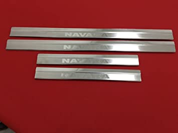 Protector para umbral de puerta de acero inoxidable cromado, 4 unidades: Amazon.es: Coche y moto
