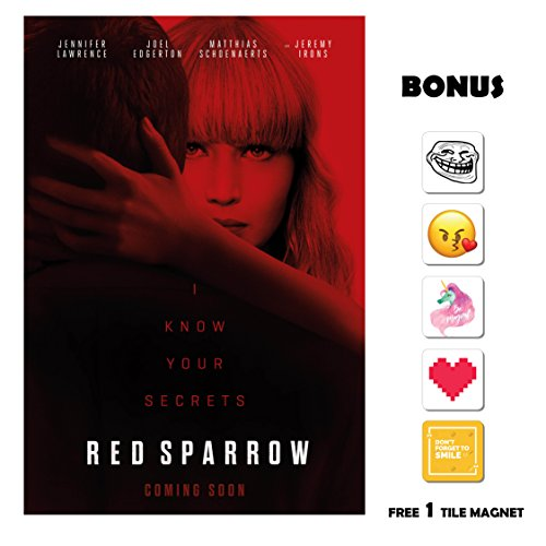 Movie Poster Red Sparrow  - Back - 13 in x 19 in Flyer BORDE