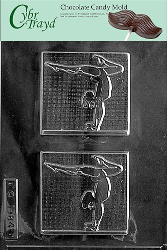Cybrtrayd S013 Female Gymnast Chocolate Candy Mold with Exclusive Cybrtrayd Copyrighted Chocolate Molding Instructions