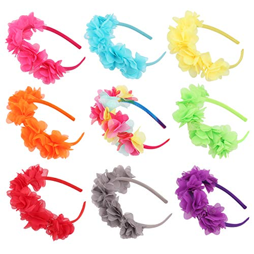 Candygirl Flower Crown Headband Wedding Festival Parties Floral Hairband (Bright Colors)