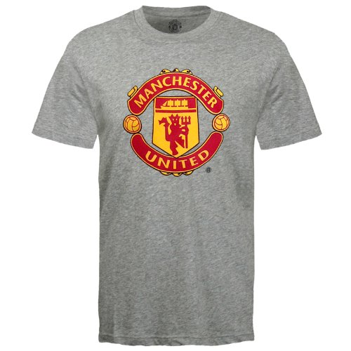 b8e5bf3edbd Manchester United Football Club Official Soccer Gift Mens T-Shirt Grey Large