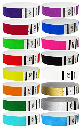 """Goldistock 3/4"""" Tyvek Wristbands The Ultimate Variety Pac..."""