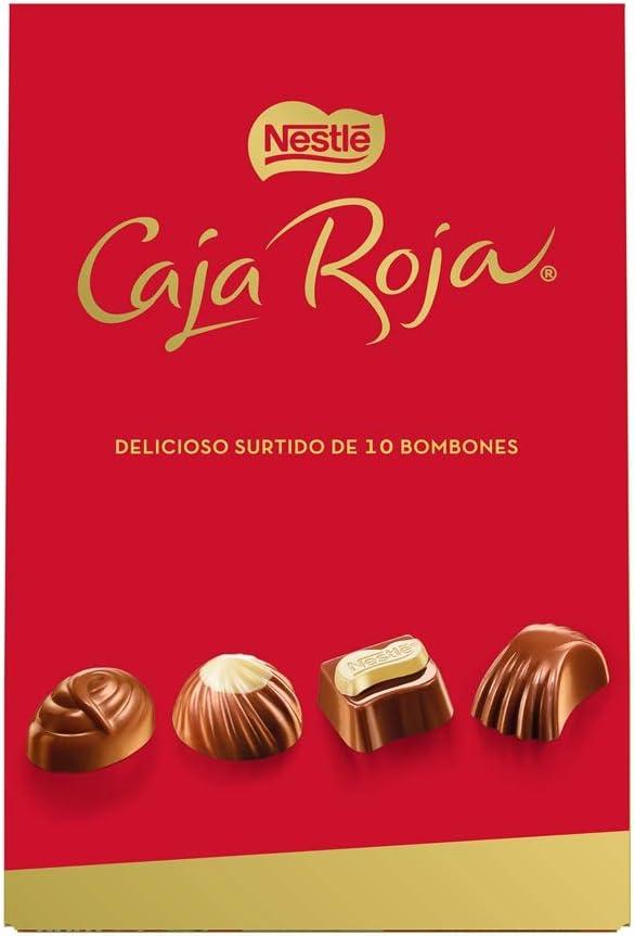 Nestlé Caja Roja Bombones de Chocolate - Bolsa de bombones 100 gr: Amazon.es: Alimentación y bebidas