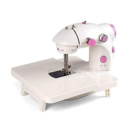 IIWOJ Máquina De Coser, Mini Máquina De Coser Eléctrica del Hogar,Pink