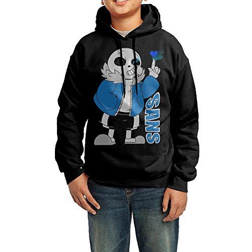 Skyter Sans Undertale Character Sweatshirts For Boys Size L Black -