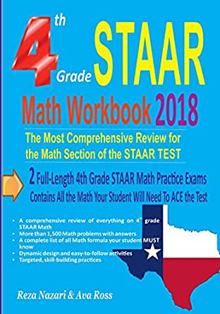 4th Grade STAAR Math Workbook 2018: The Most Comprehensive Review ...