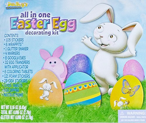 All-in-One Eggceptional Easter Egg Decorating Kit Dudley' s COMINHKPR74655
