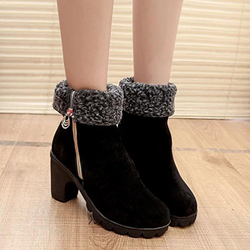 Noir hunpta Ville Femme de Pour à Lacets Chaussures qZ1rwq0S