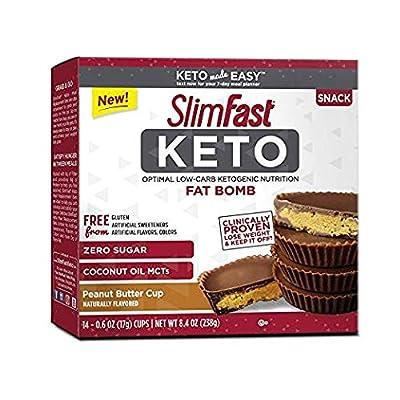 SlimFast Keto Fat Bomb Snacks (Pack of 4)
