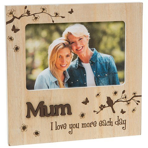 Mum I Love You More Each Day Wooden Woodland Photo Frame Gift
