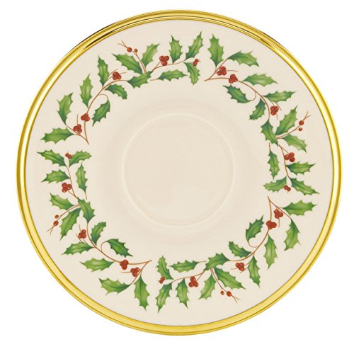 Lenox Holiday Saucer,Ivory and Platinum