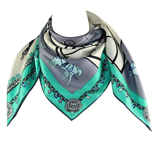 Silk Scarf Square Scarf for Hair Women-Pantonight 100% Pure Silk 14MM Hand Rolling Edge Silk Twill Scarf for Women