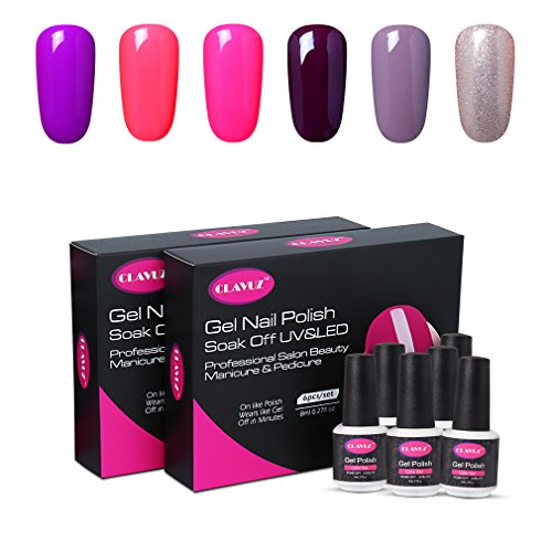 CLAVUZ Gel Polish UV LED Soak Off Nail Varnish Lacquer Manic
