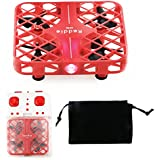 Mini Remote Control Drone Quadcopter Mesh Protective Frame 3D Flip RC Headless Mode 2.4G 4CH 6-Axis Gyro RTF Kids Helicopter Super Red