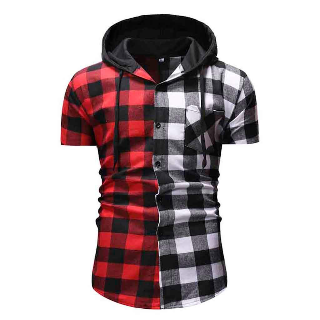 Mens Summer Vest,Tronet Men's Camouflage Casual Pullover Hooded Short Sleeve Shirt Top Blouse