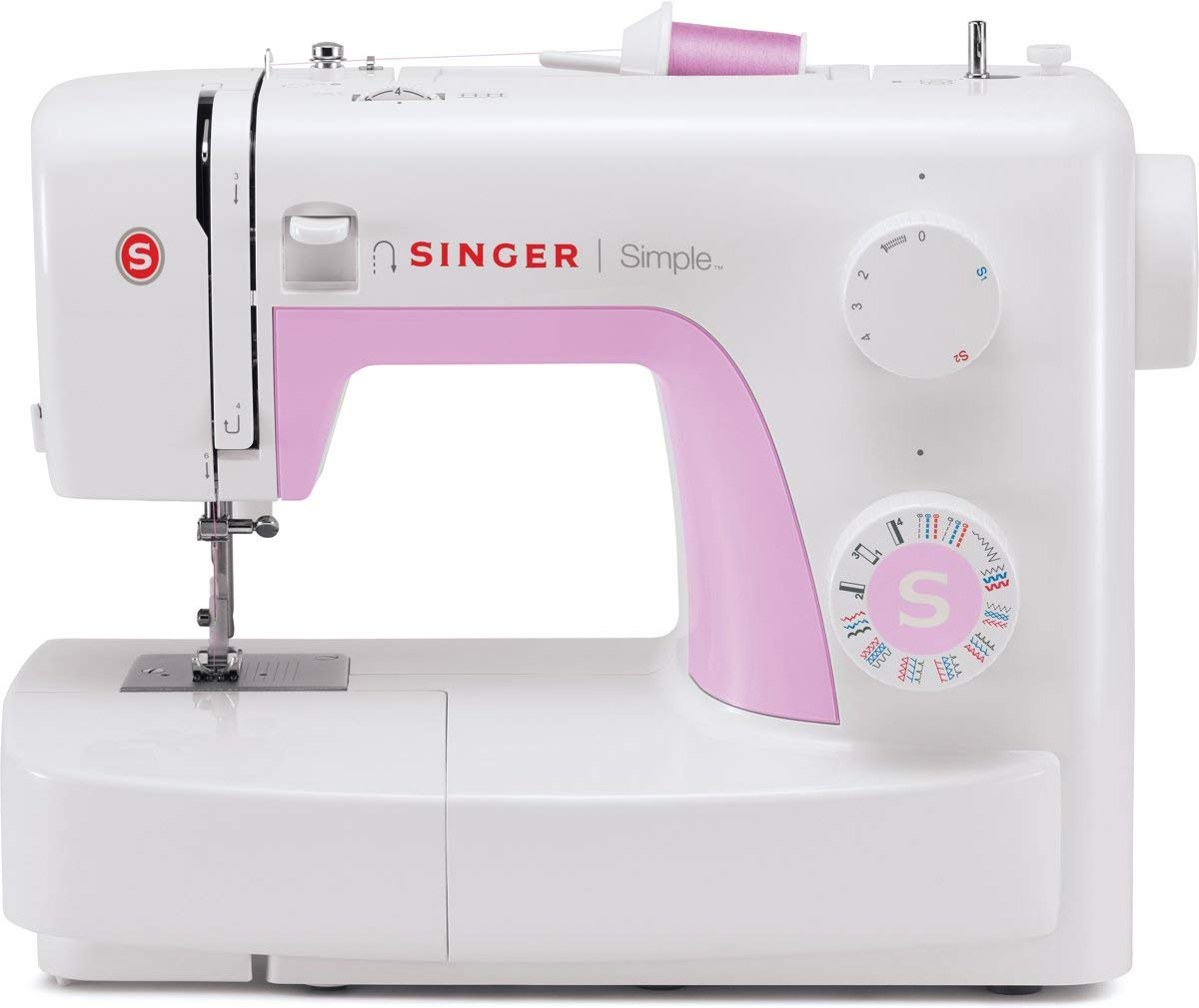 Singer 3223 Simple - Máquina de coser mecánica, 23 puntadas, color blanco product image