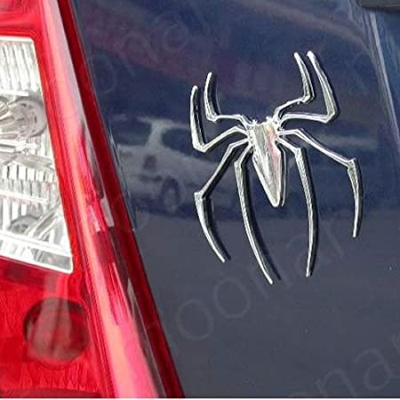 Silver Chrome Spiderman Sticker Onner Spider Car Decal Car Auto Body Window Sticker Emblem Badge