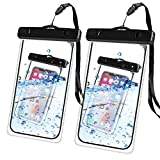 Auttumy Waterproof Cell Phone Pouch : Universal Dry Bag for iPhone Xs Max XR X 8 Plus Samsung Galaxy S9 Note Pixel LG with IPX8 Certificate for travel beach snowproof dustproof with thin Case (2-Pack)