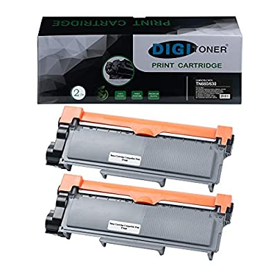 DIGITONER Compatible Toner Cartridge Replacement for Brother TN660 TN-660 TN630 High Yield for DCP-L2540DW/L2560DW/HL-L2300D/L2360DW/L2380DW/MFC-L2680W/L2685DW/L2700DW/L2705DW/L2707DW [Black, 2 Pack]