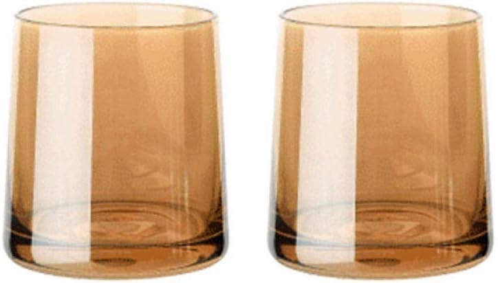 Cóctel Vaso De Whisky, Vaso De Cerveza Ionizada, Vaso De Vino, Vaso De Bebidas Espirituosas, Jugo Resistente Al Calor, Vaso De Cóctel-Ámbar * 2