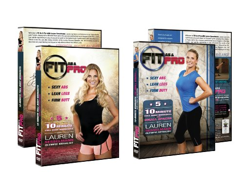 FIT AS A PRO - SUPER PACK Five 10-minute Full Body Workouts with Lauren Sesselmann + Small Spaces DVD -