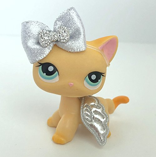 Littlest Doll Angel (Littlest Pet Shop Accessories LPS Lot Bow and Angel Wings CAT NOT INCLUDED)