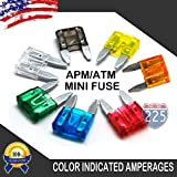 10 Combo Kits (130 Pieces - 10 of each fuse) 1-40 AMP MINI APM/ATM 32V Mini Blade Style Fuses Short Circuit Protection Car Fuse