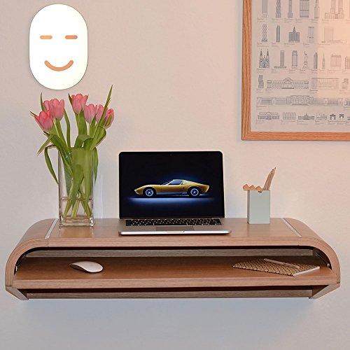 the walldesk schreibtisch 130 x 41 cm h 26 cm eiche. Black Bedroom Furniture Sets. Home Design Ideas