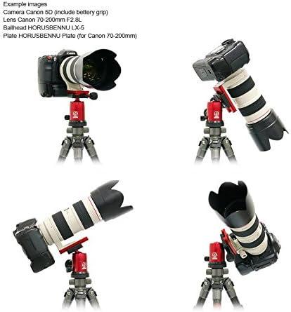 HORUSBENNU DSLR SLR Camera Monopod Tripod Ball Head LX-3T Black with Dovetail Plate
