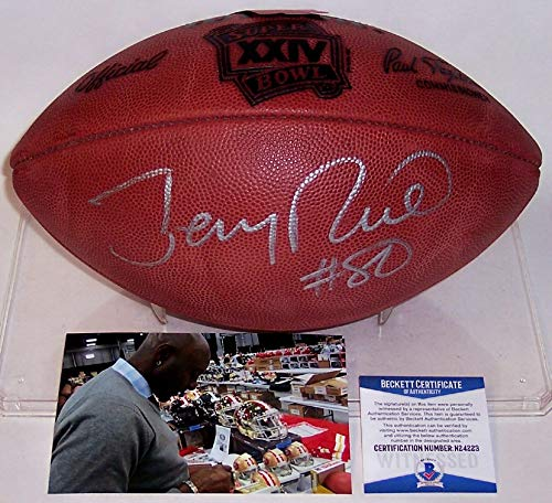 - Jerry Rice Autographed Hand Signed Super Bowl 24 XXIV Official Wilson NFL Leather Football - BAS Beckett Authentication