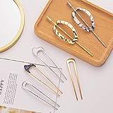 Whaline 6 Pack Hairpins U-Shape & Oval Hair Pins