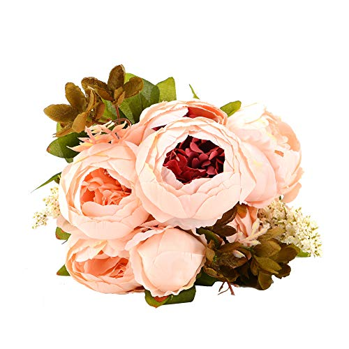 (NYRZT Artificial Flowers Silk Peonies Flower Wedding Decoration Bouquet Plants for Home Party Decor (Peony))