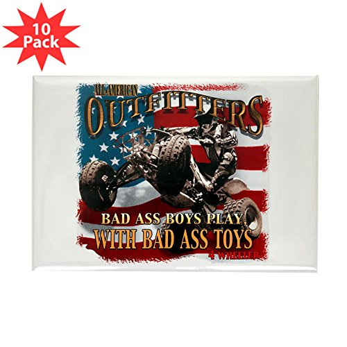 (Rectangle Magnet (10 Pack) Bad Ass Boys Play Bad Ass Toys)