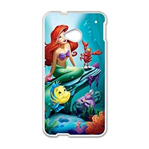 Mermaid Under Sea Cartoon White HTC M7 case by lolosakes