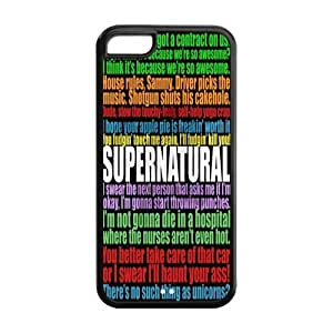 XiFu*MeiFunny SPN Supernatural Quotes Hard Rubber Cell Cover Case for iphone 6 plua 5.5 inch,5C Phone CasesXiFu*Mei