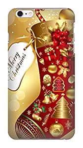 Resistant slim clear back case with tpu phone cover for iphone6(Christmas) by kelly reese
