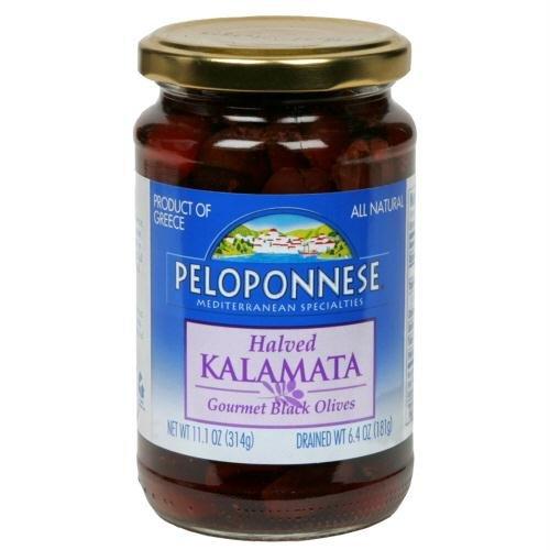 Peloponnese Olive Kalamata Halved, 6.4 oz