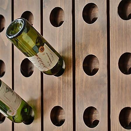 MoDi Estante for Vino Botella de Vino de Madera Maciza montada en la Pared Estante for Vino Tinto Estante for Vino Creativo Estante for Vino Bodega (Size : 129 * 51cm)