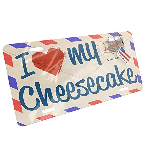 Love Letters Cake Plate (Metal License Plate I Love my Cheesecake, Vintage Letter - Neonblond)