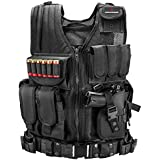 Armacorp X-1 Tactical Vest for Combat Training, Field Operations and Special Missions - Lightweight Breathable Vest, Adjustable Sizes, Unisex, 600D Assault Gear (Black)