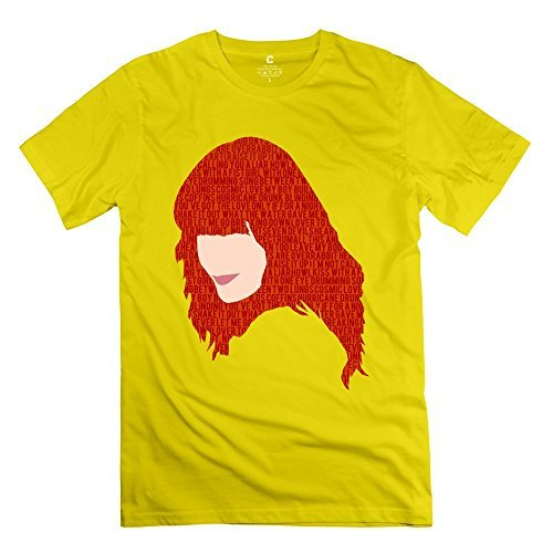 Geek Florence Welch And The Machine Men's Tshirt Yellow Size -