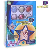 Kele- Funny Glitter Body Tattoos Art Kit with 24 Tattoos Stencils and 6 Large Colors, Temporary Tattoos for Kids Teenagers