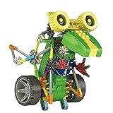 Extpro 105 Pcs Robotic Motorized DIY Assemble Educational Science Robot Kit Toy for Kids Children Over 6 Years