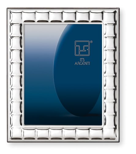 Square Photo Sterling Frame Silver (STERLING SILVER PICTURE FRAME 'SQUARES'. Mahogany Back (6