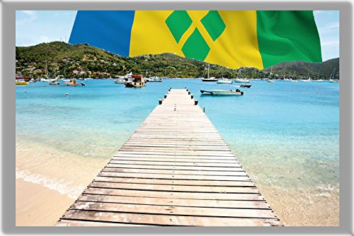 KINGSTOWN FRIDGE MAGNET, THE CAPITAL CITY OF SAINT VINCENT AND THE GRENADINES REFRIGERATOR MAGNET